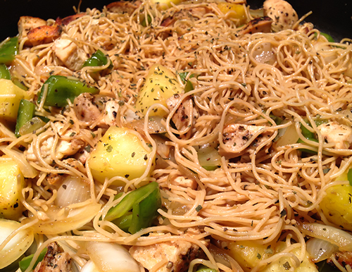 Let's Cook! Chicken & Pineapple Lo Mein
