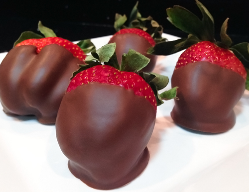 Strawberries Dipped in Dark Chocolate