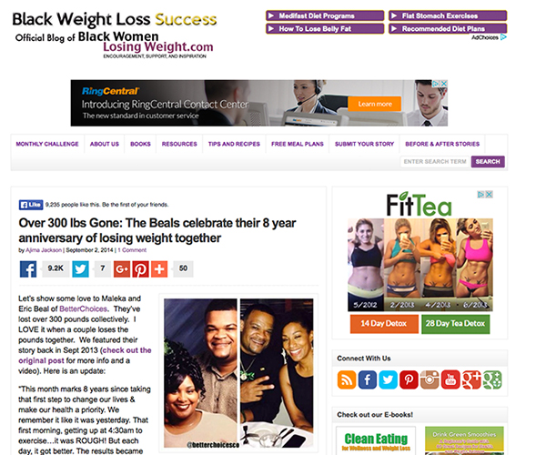 Black Women Losing Weight