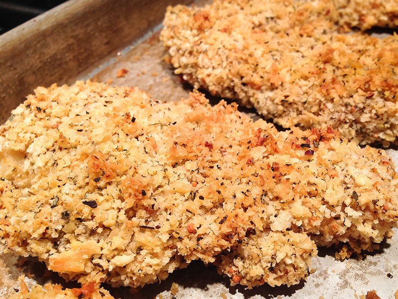 Panko Crusted Baked Chicken