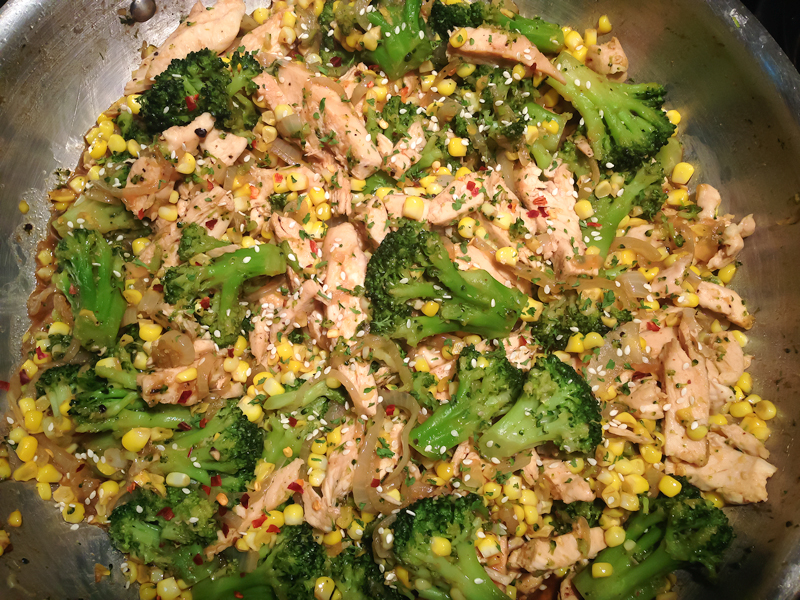 Broccoli & Corn Stir Fry